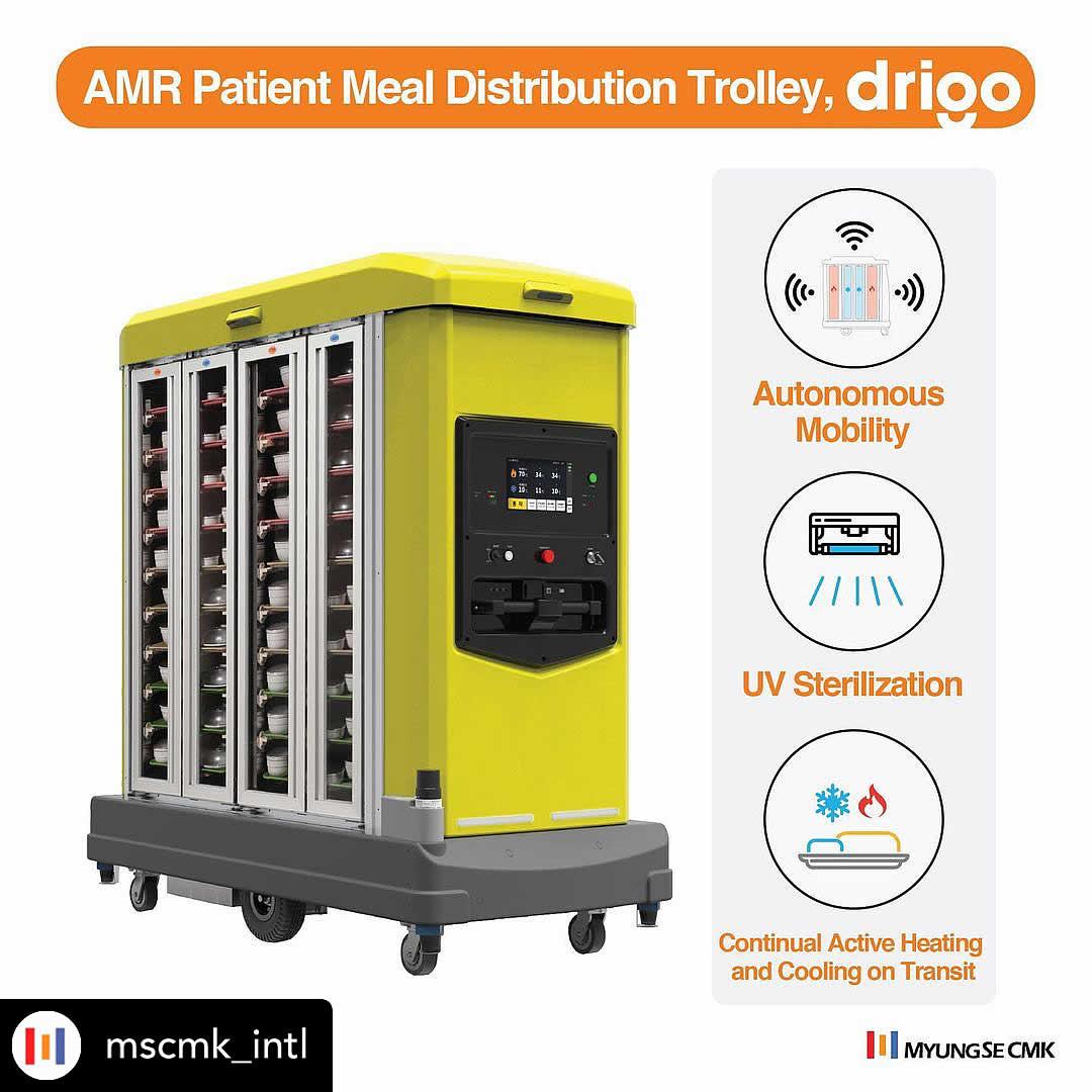 Drigo self-driving meal tray distribution