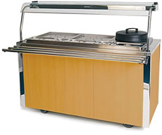 Carvery Unit MODEL VCCV4: Russian Maple Finish