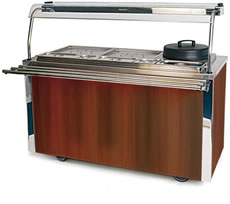 Carvery Unit MODEL VCCV4: Mahogany Finish