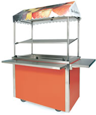 VCPW3C with canopy and optional solid drop down tray slide