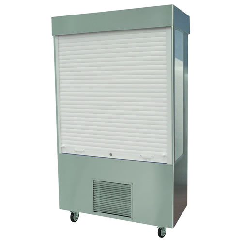 Chilled Merchandiser with lockable roller shutter, model MM12LSA