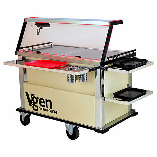 Multi Portion Retherm Hostess Trolley, model V2GR
