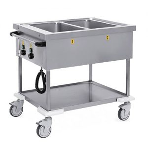 Mobile bain marie trolley width duel wells, model 7370