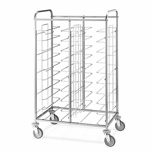 Metalcarrelli open tray collection trolley