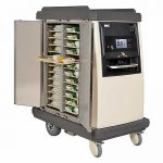 Emos Cook-Chill Meal Tray Servce Trolley, with doors open