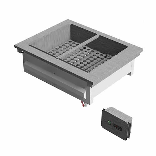 Drop-in wet heat bain marie with no gantry, model D2BMWNG