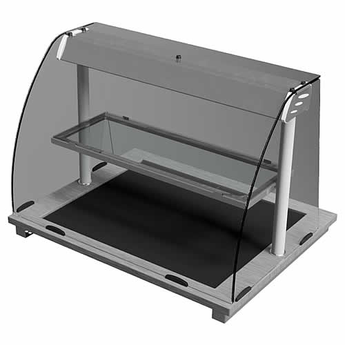 Curved Glass Deli Hot Top, model D2HTD