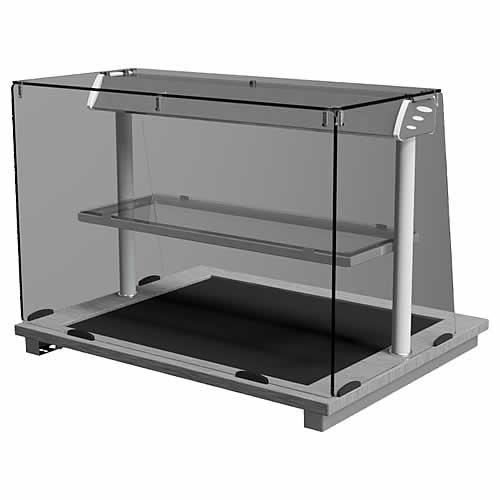 Square Glass Deli hot top, model D2HTDSL