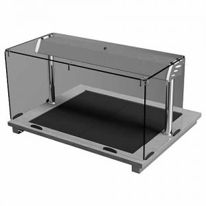 Square Glass Closed Front Hot Top, model D2HTSLF