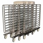 Open tray return trolley shown without cover