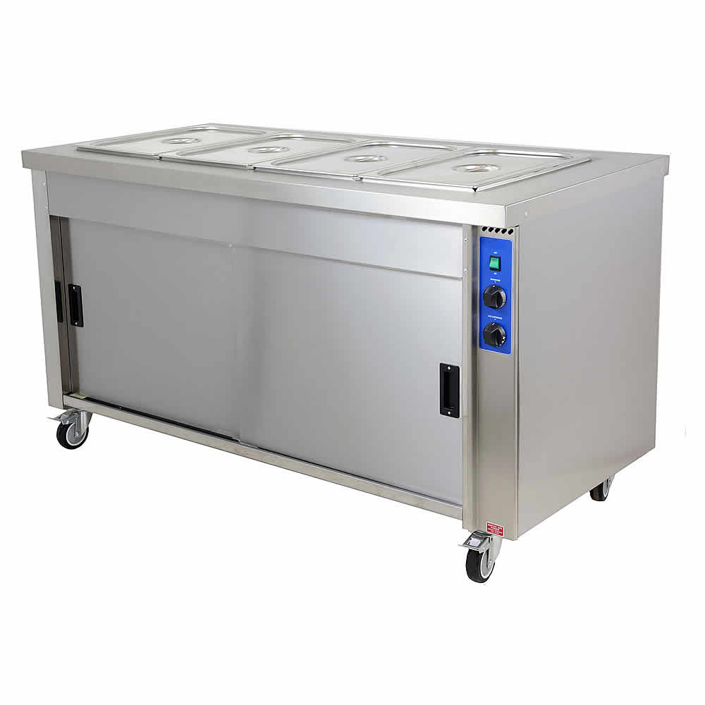 Wet and dry well bain marie, model HB4E