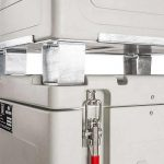 Close up of insulated dry ice container for pallett, model 0150S002