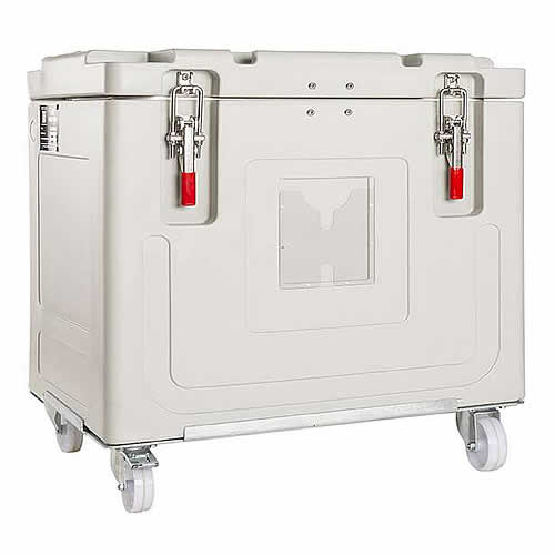 Insulated container for dry ice, model 0150S001
