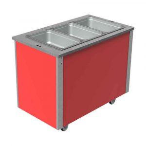3GN capacity wet or dry heat bain marie with hot cupboard, model VC3BMW