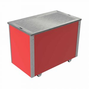 Hot Top with Hot Cupboard and recessed stainless steel solid top, model VC3HTS