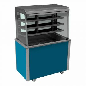 Refrigerated display with curved glass, closed front and rear, model VC3RDF