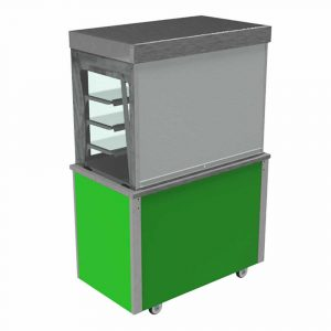 Refrigerated display with lockable roller shutter and rear sliding door, model VC3RDSA